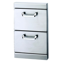Lynx Double Drawer Utility Drawer with 5-Inch Offset Handles